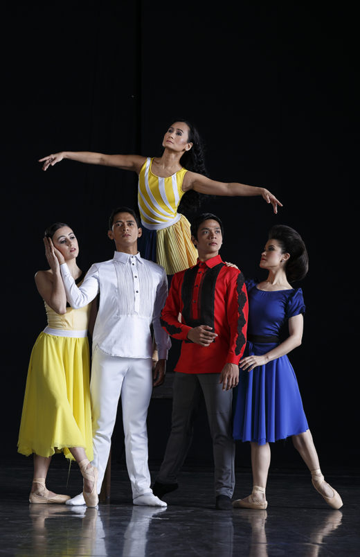 Lisa Macuja with Ballet Manila Company Artists in Rebel