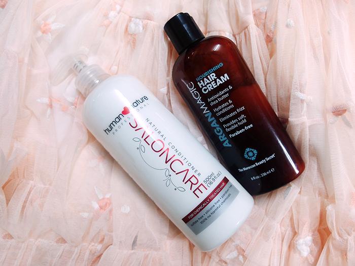 Human Nature Conditioner and ArganMagic Hair Cream